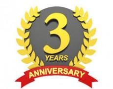 3周年記念